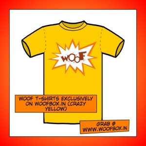 Woof T-Shirts exclusively on woofbox.in (Crazy Yellow)