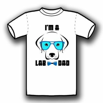 I'm a Lab Dog (White)